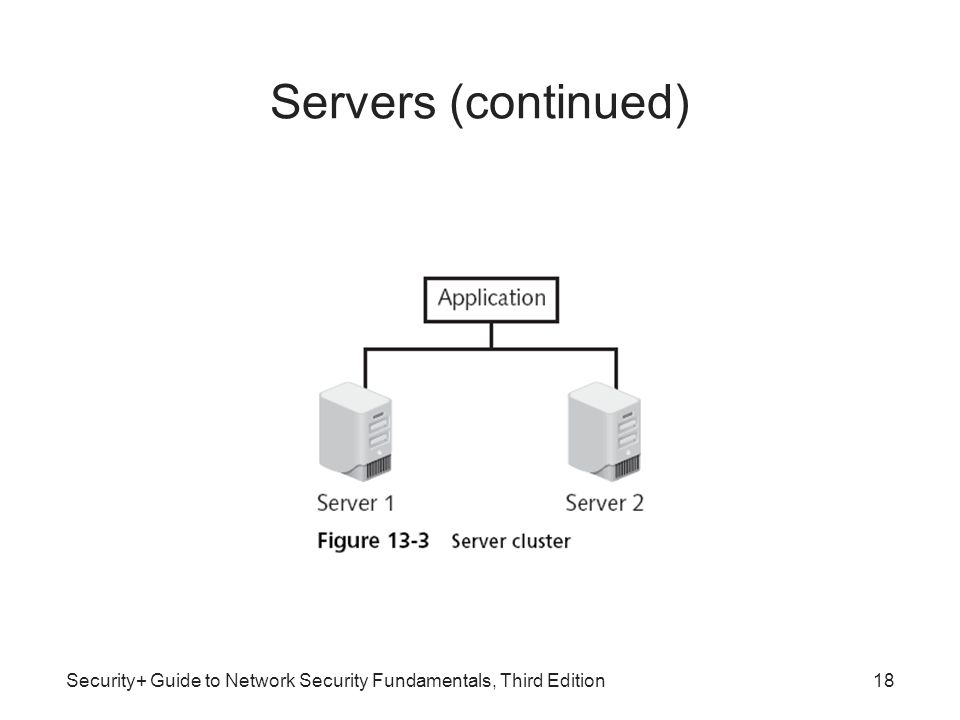 Security+ Guide to Network Security Fundamentals, Third Edition18 Servers (continued)