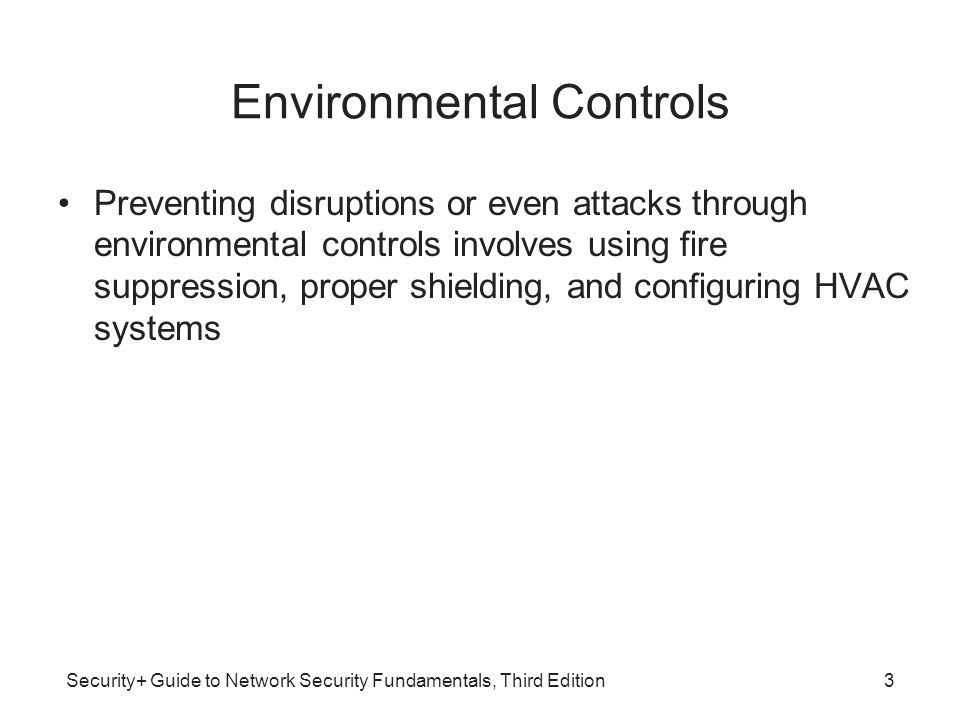 Security+ Guide to Network Security Fundamentals, Third Edition Disaster Exercises Disaster exercises are designed to test the effectiveness of the DRP Objectives of these disaster exercises: –Test the efficiency of interdepartmental planning and coordination in managing a disaster –Test current procedures of the DRP –Determine the strengths and weaknesses in responses 34