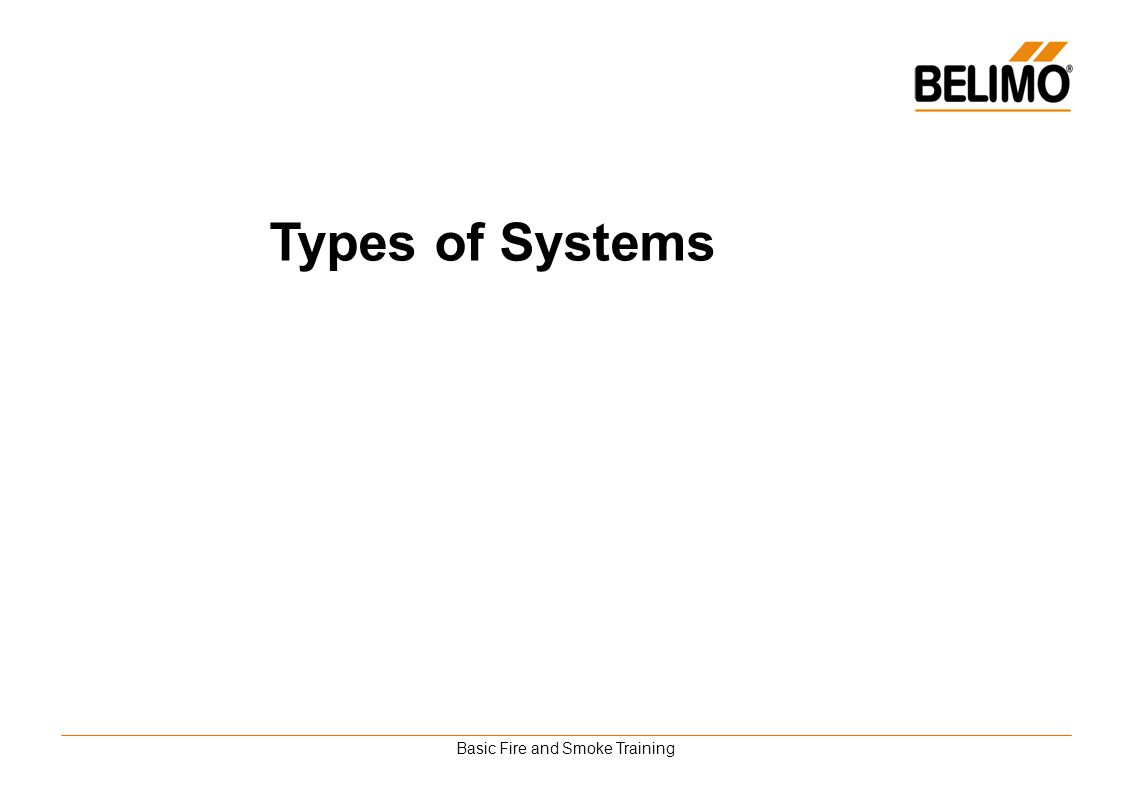 Basic Fire and Smoke Training Types of Systems