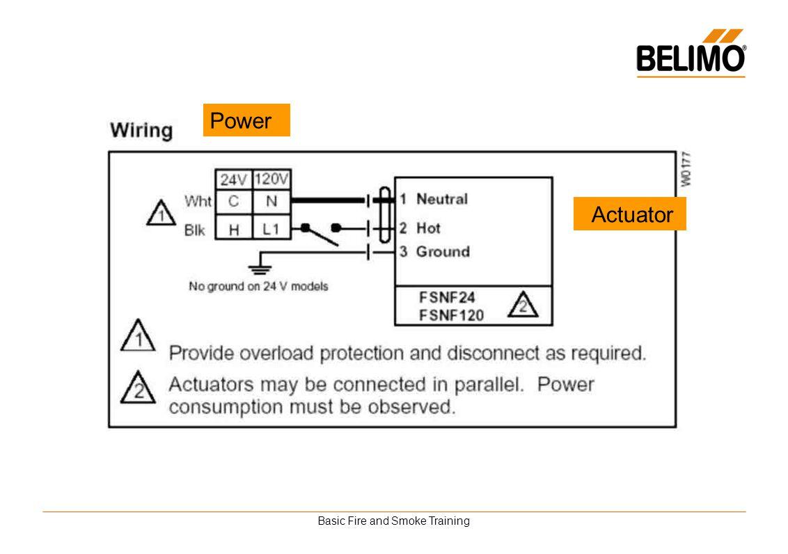 Basic Fire and Smoke Training Actuator Power