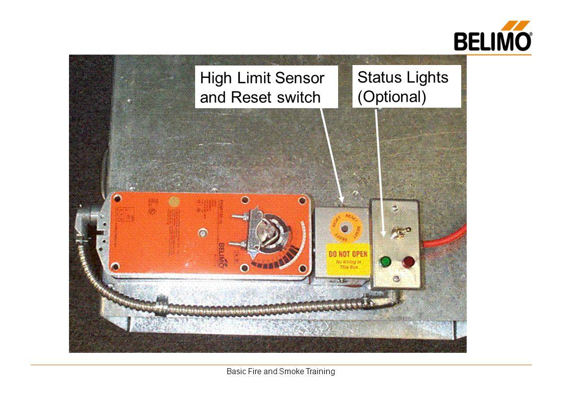 Basic Fire and Smoke Training High Limit Sensor and Reset switch Status Lights (Optional)