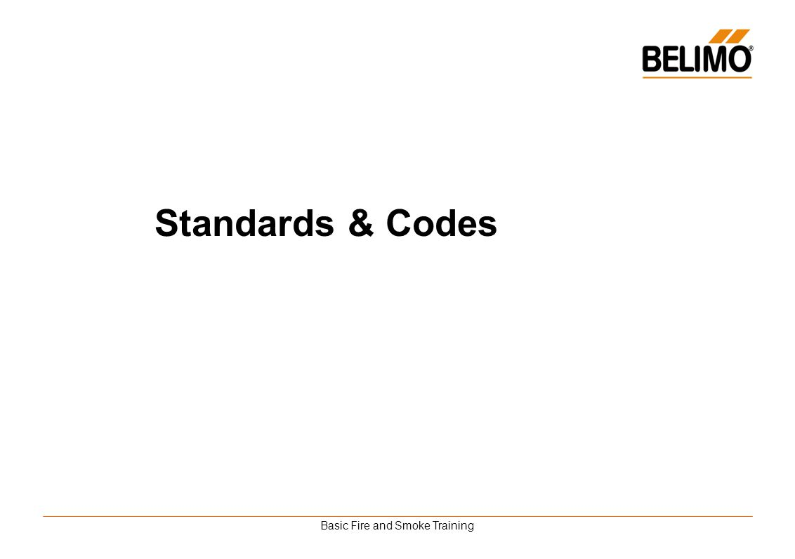 Basic Fire and Smoke Training Standards & Codes