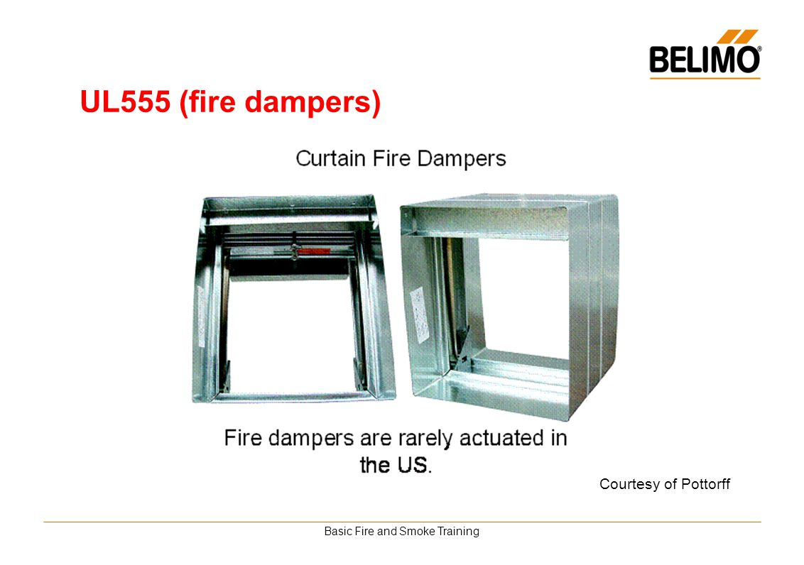 Basic Fire and Smoke Training UL555 (fire dampers) Courtesy of Pottorff