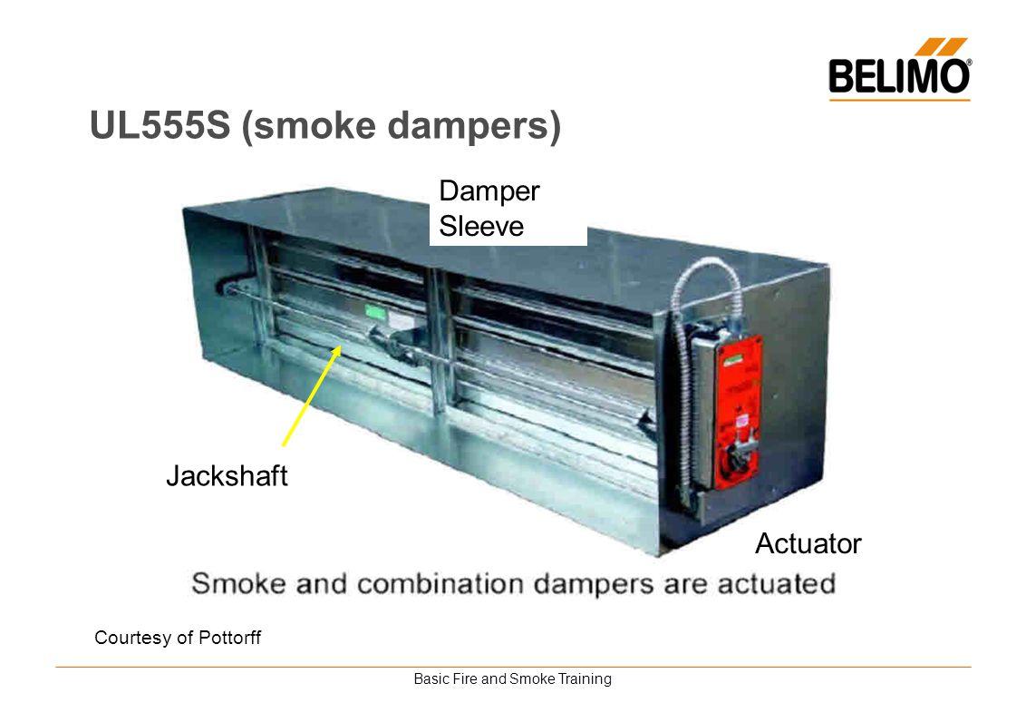 Basic Fire and Smoke Training Jackshaft Damper Sleeve Actuator UL555S (smoke dampers) Courtesy of Pottorff