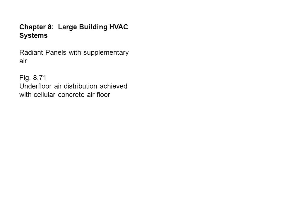 Chapter 8: Large Building HVAC Systems Radiant Panels with supplementary air Fig.