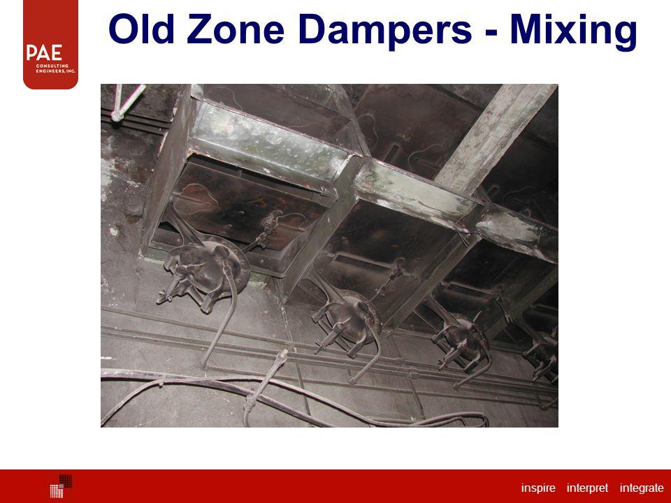Old Zone Dampers - Mixing inspire interpret integrate