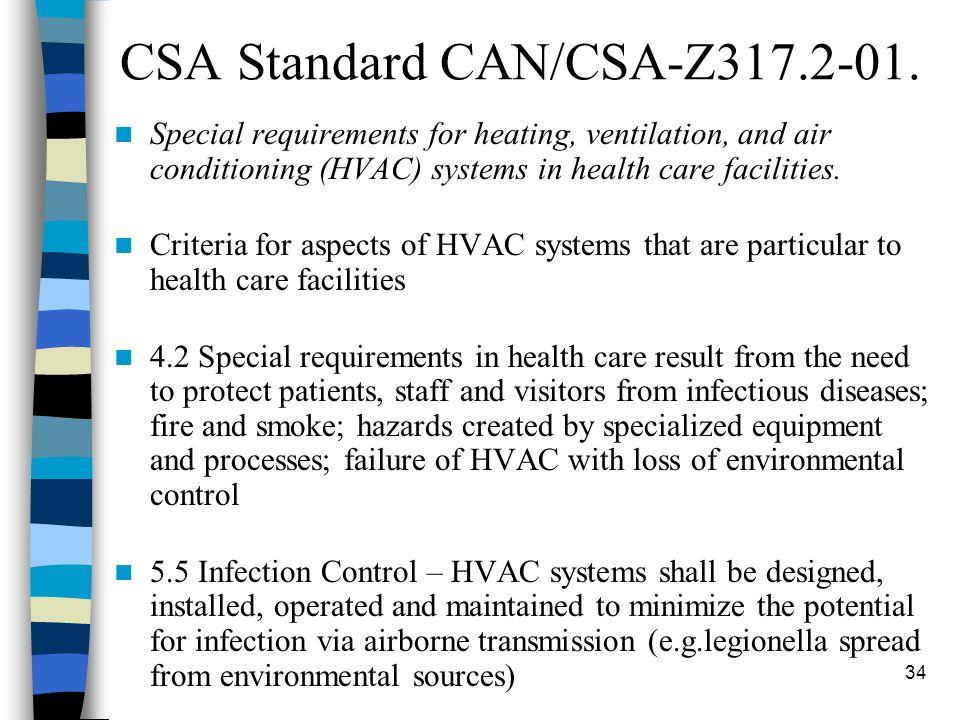 34 CSA Standard CAN/CSA-Z317.2-01.