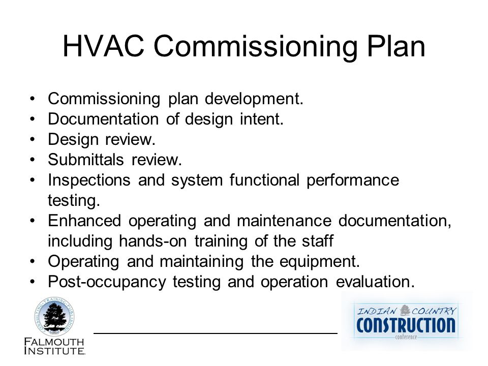 HVAC Commissioning Plan Commissioning plan development.