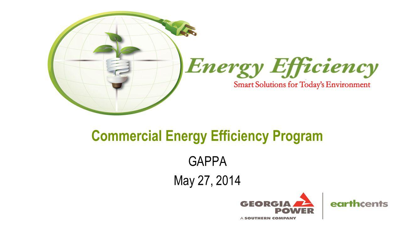 Commercial Energy Efficiency Program GAPPA May 27, 2014
