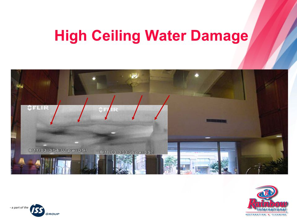 High Ceiling Water Damage
