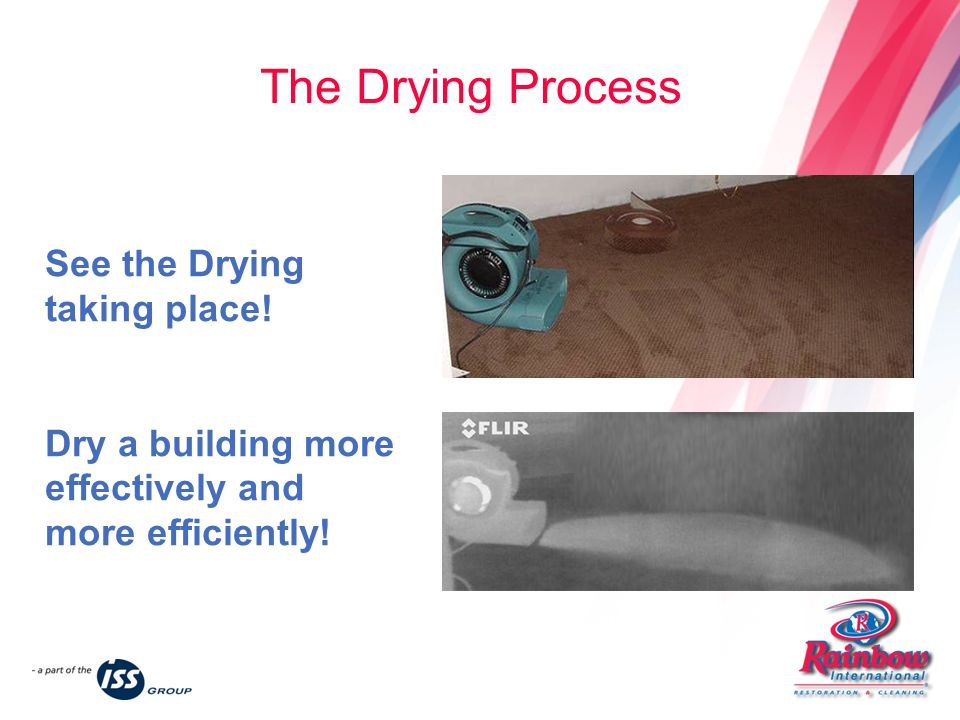 See the Drying taking place. Dry a building more effectively and more efficiently.