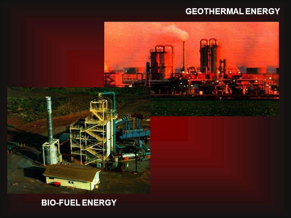 GEOTHERMAL ENERGY BIO-FUEL ENERGY