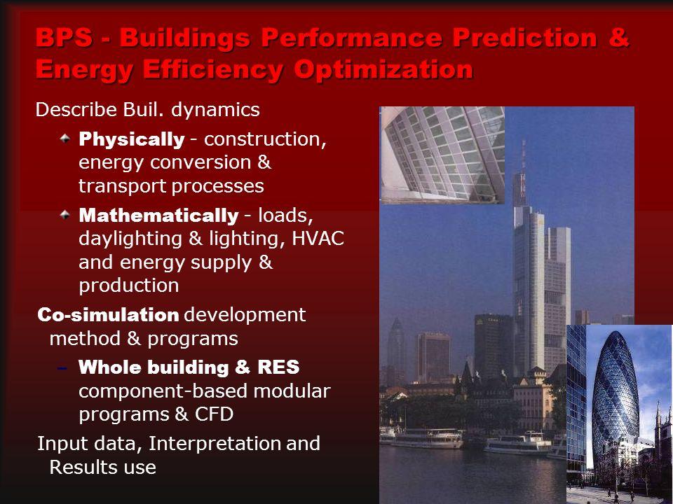 BPS - Buildings Performance Prediction & Energy Efficiency Optimization Describe Buil.