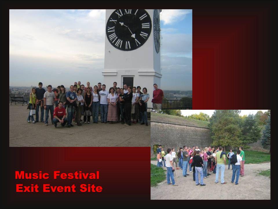 Music Festival Exit Event Site