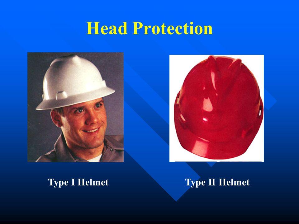 Head Protection Type I HelmetType II Helmet