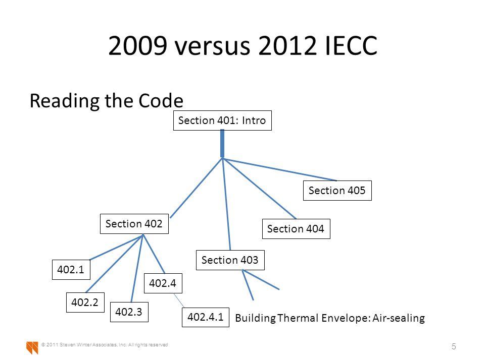2009 versus 2012 IECC Air-sealing differences 16 © 2011 Steven Winter Associates, Inc.
