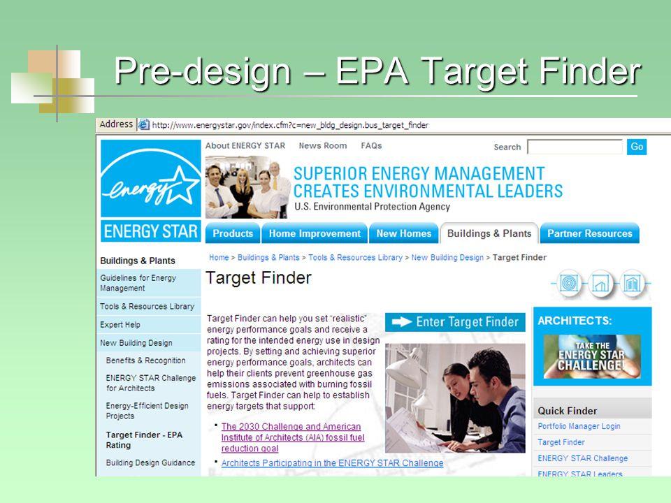 Pre-design – EPA Target Finder
