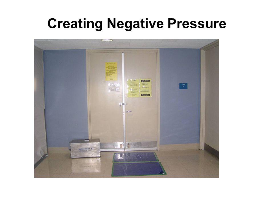 Creating Negative Pressure