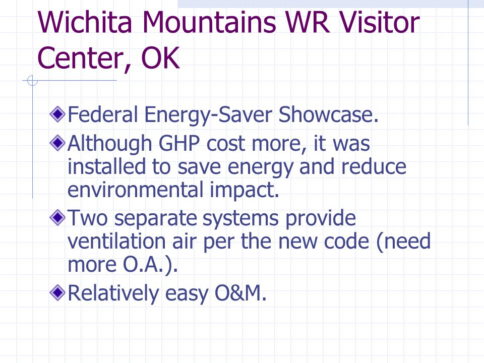 Wichita Mountains WR Visitor Center, OK Federal Energy-Saver Showcase.