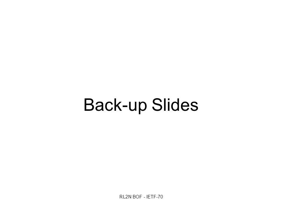 RL2N BOF - IETF-70 Back-up Slides