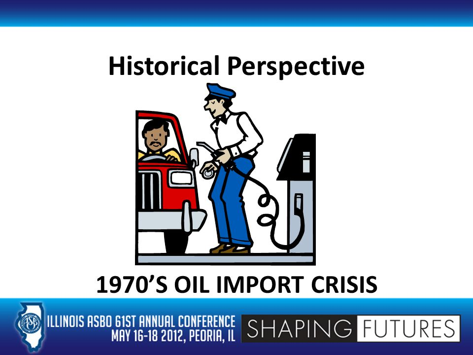 Historical Perspective 1970'S OIL IMPORT CRISIS