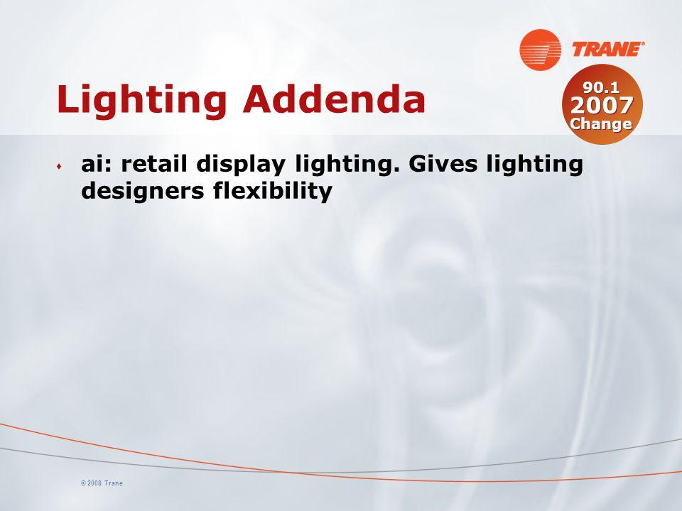© 2008 Trane Lighting Addenda s ai: retail display lighting.