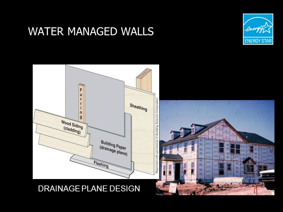 WATER MANAGED WALLS DRAINAGE PLANE DESIGN