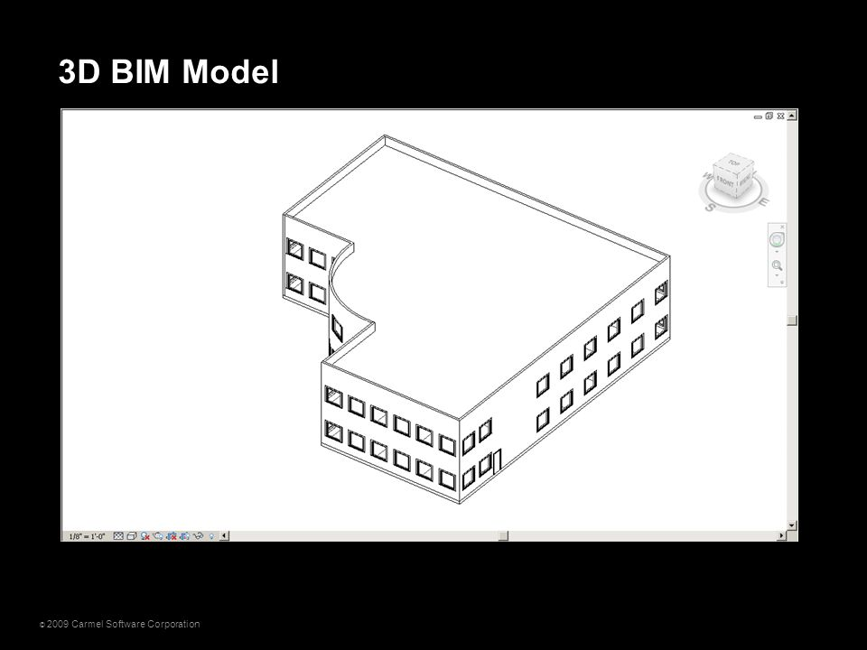 © 2009 Carmel Software Corporation 3D BIM Model