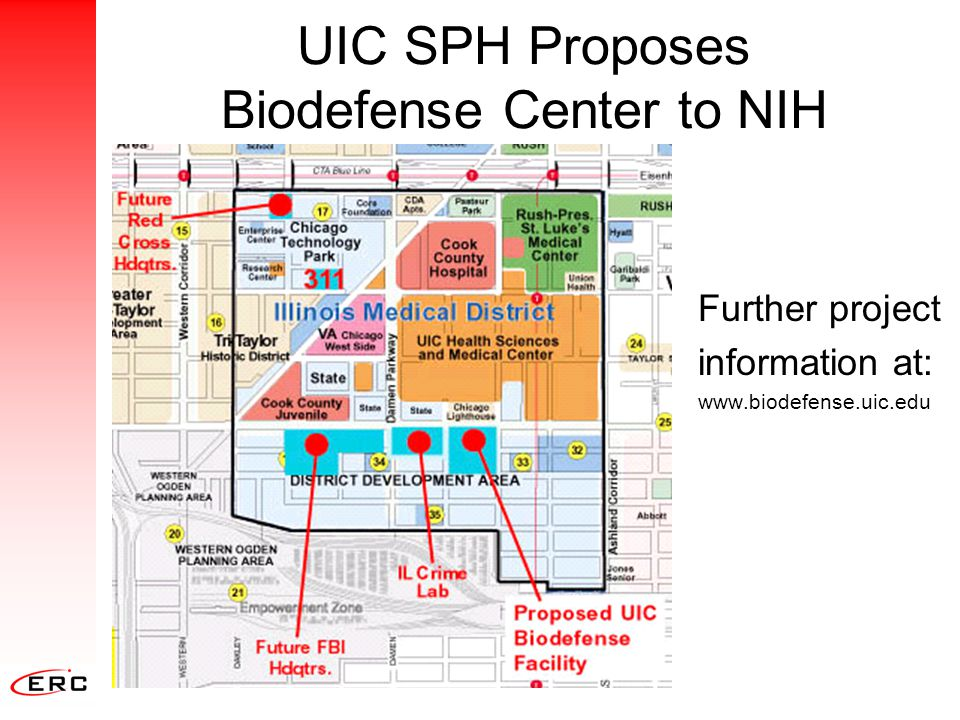 UIC SPH Proposes Biodefense Center to NIH Further project information at: www.biodefense.uic.edu