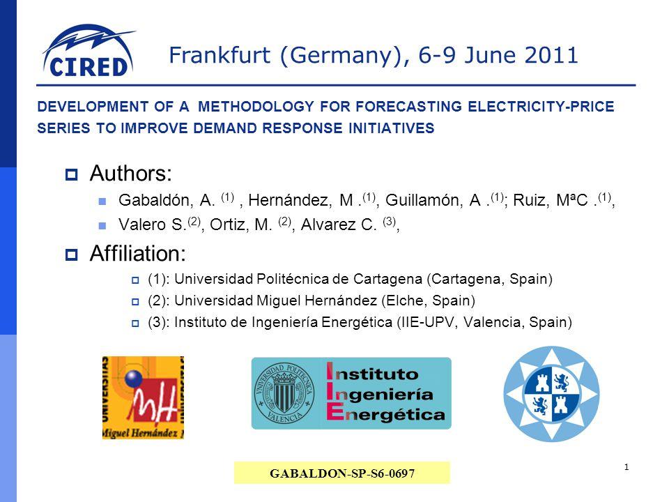 Frankfurt (Germany), 6-9 June 2011 1.