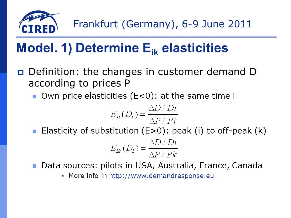 Frankfurt (Germany), 6-9 June 2011 Conclusions (II)  And Capacity Markets benefits $  Customer response increases demand elasticity ►A lot of benefits for the market and the society!!.