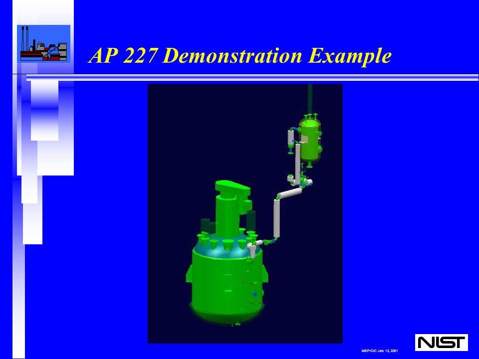 MEP/CIC Jan. 12, 2001 AP 227 Demonstration Example