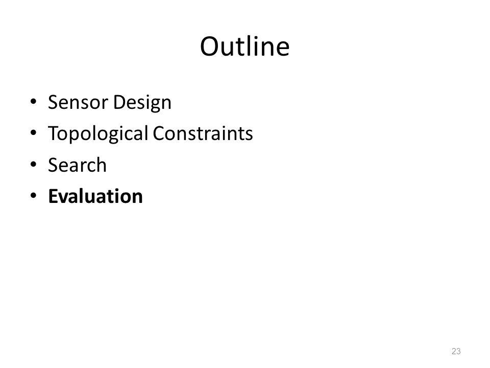 Outline Sensor Design Topological Constraints Search Evaluation 23
