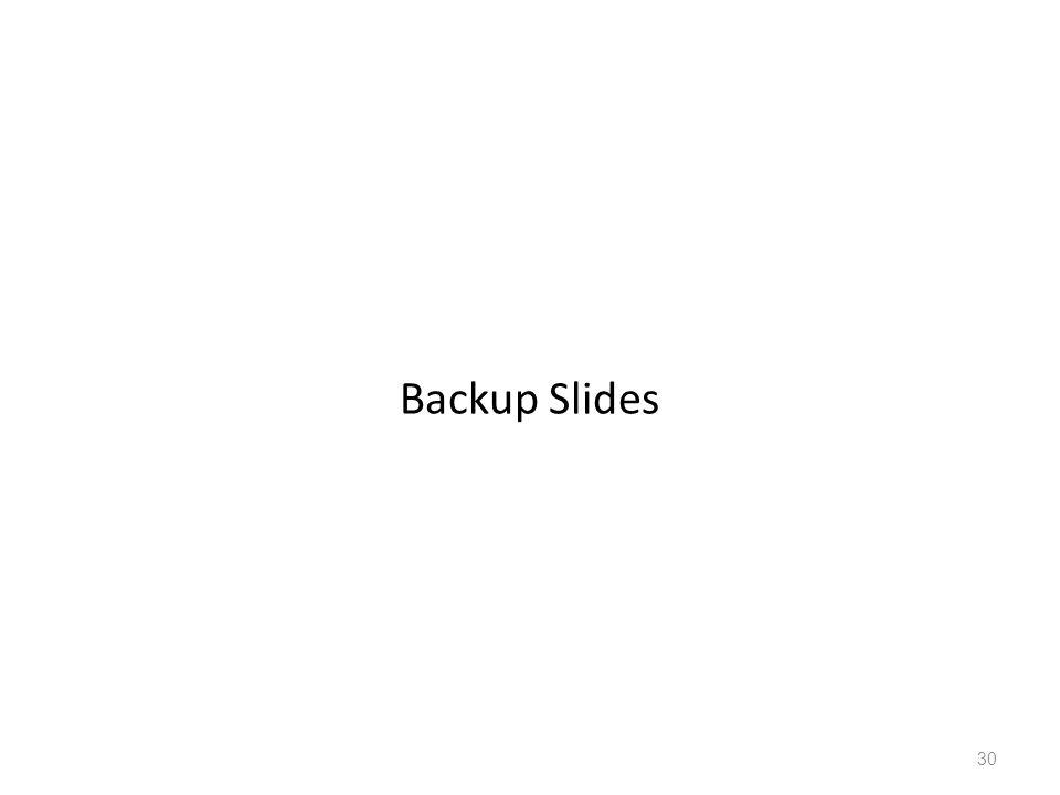 30 Backup Slides