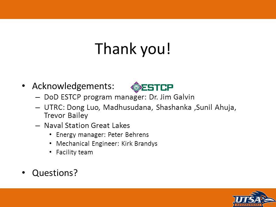 Acknowledgements: – DoD ESTCP program manager: Dr.