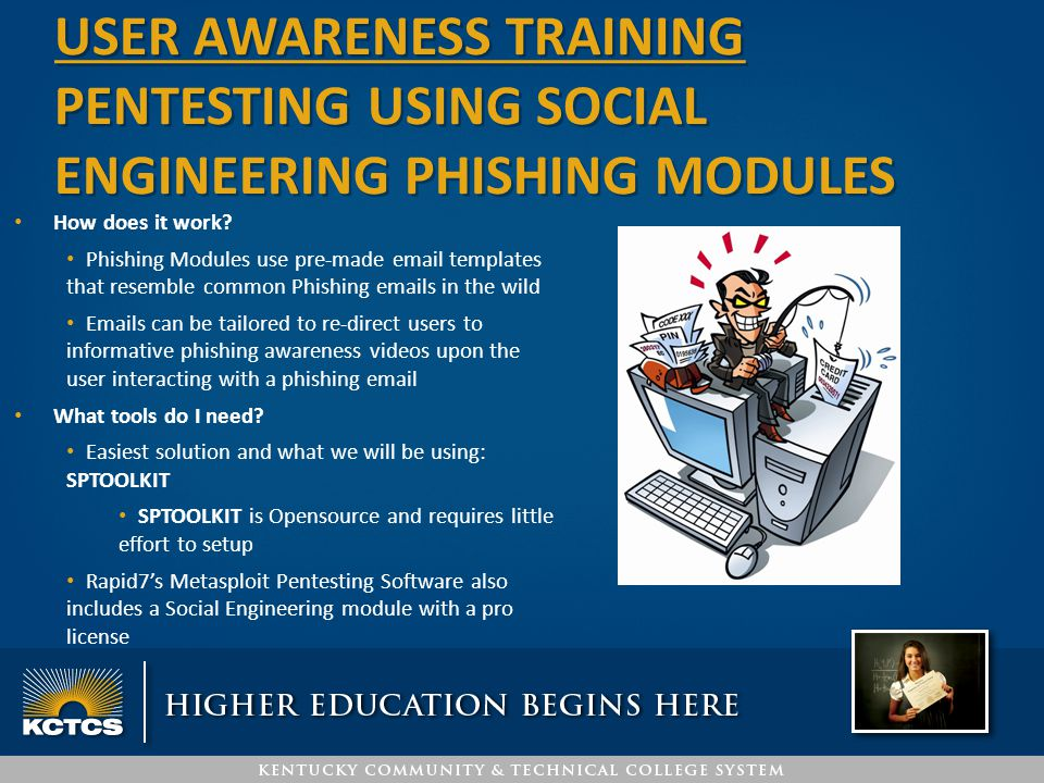How does it work? Phishing Modules use pre-made email templates that resemble common Phishing emails in the wild Emails can be tailored to re-direct u
