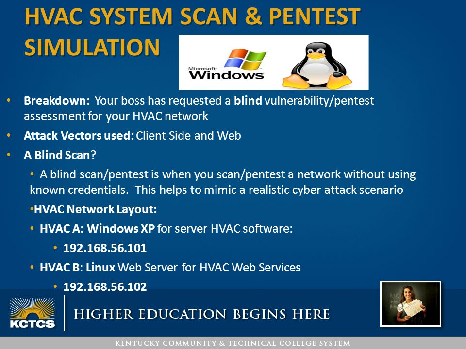 Breakdown: Your boss has requested a blind vulnerability/pentest assessment for your HVAC network Attack Vectors used: Client Side and Web A Blind Sca