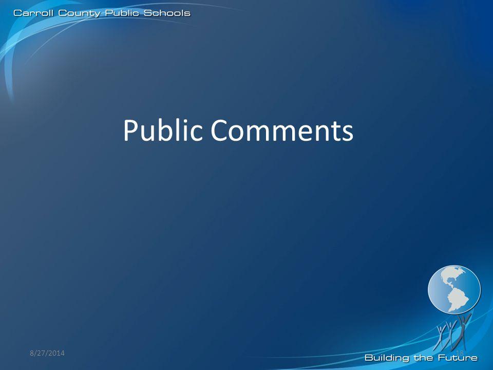 Public Comments 8/27/201418