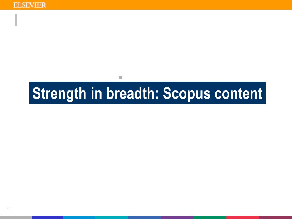 11  TEAM Strength in breadth: Scopus content
