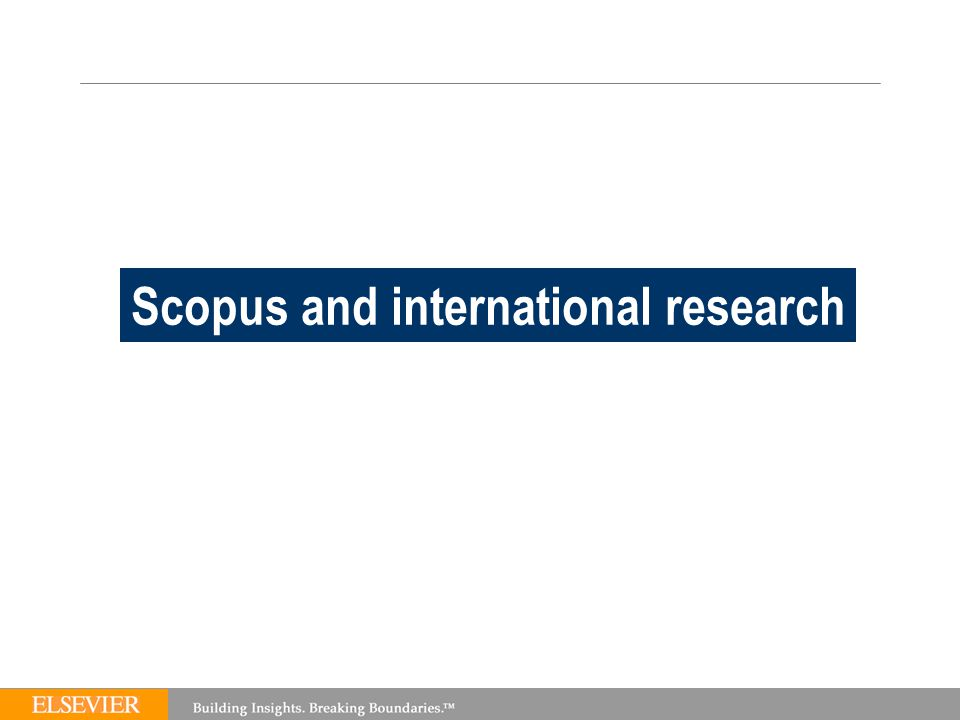 TEAM Scopus and international research