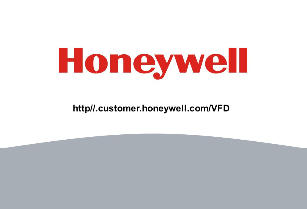 16 http//.customer.honeywell.com/VFD