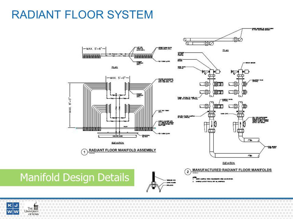 RADIANT FLOOR SYSTEM Manifold Design Details