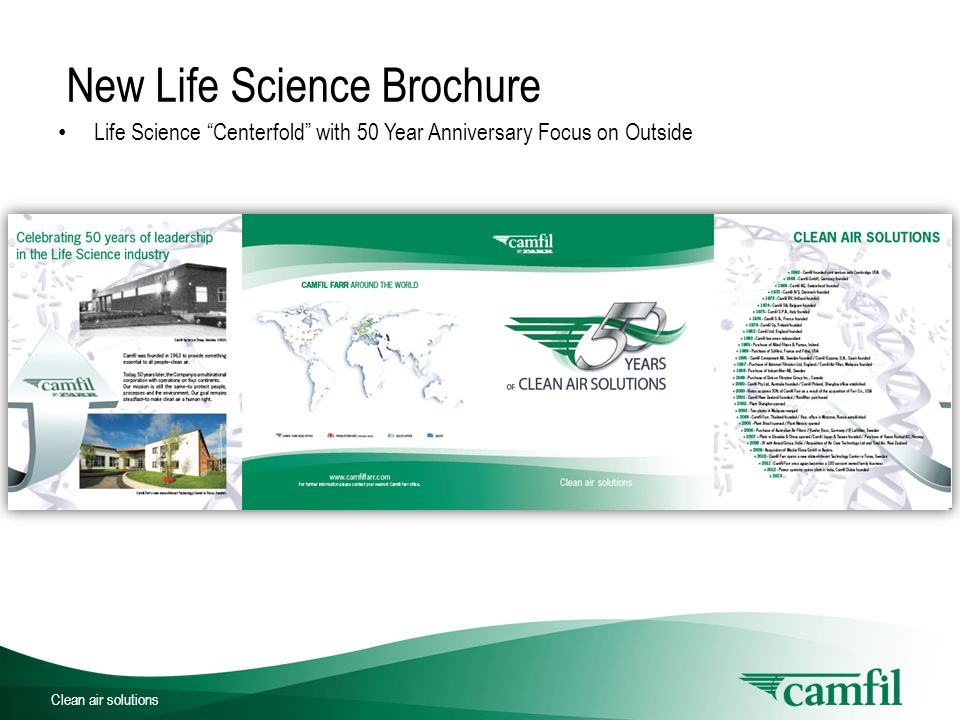 Clean air solutions Life Science Industry Insights Overview of industry changes over the last decade, both inside and outside of Camfil by Sean O'Reilly