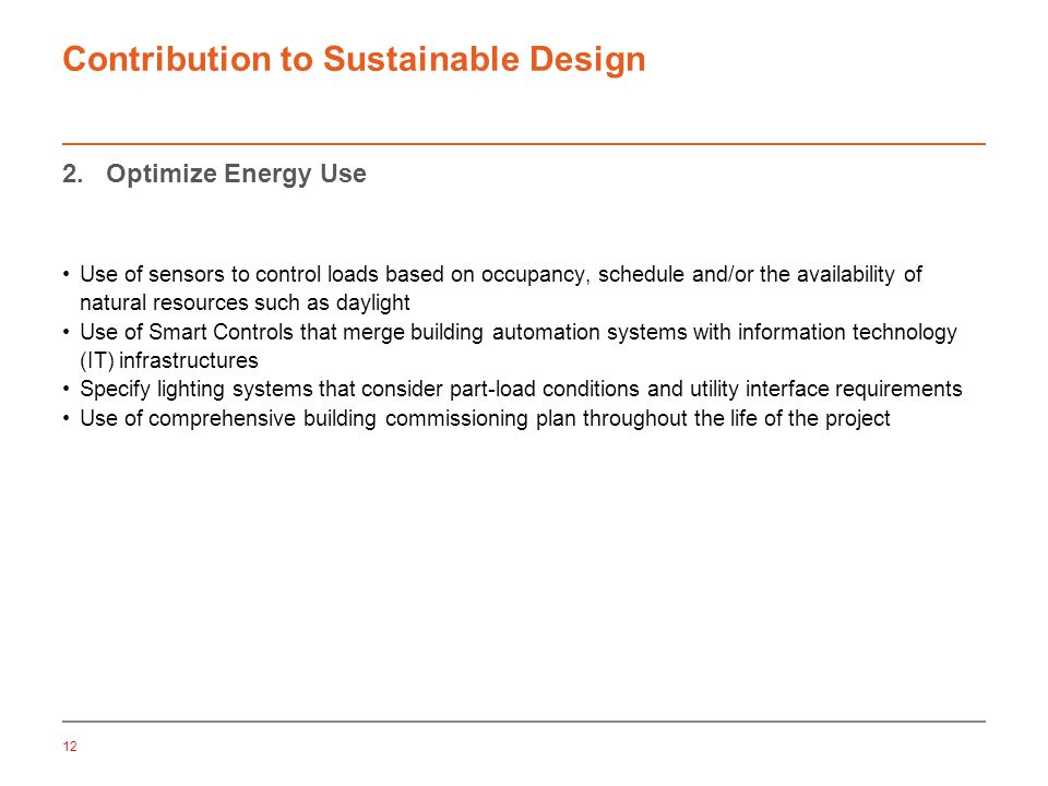 12 Contribution to Sustainable Design 2.