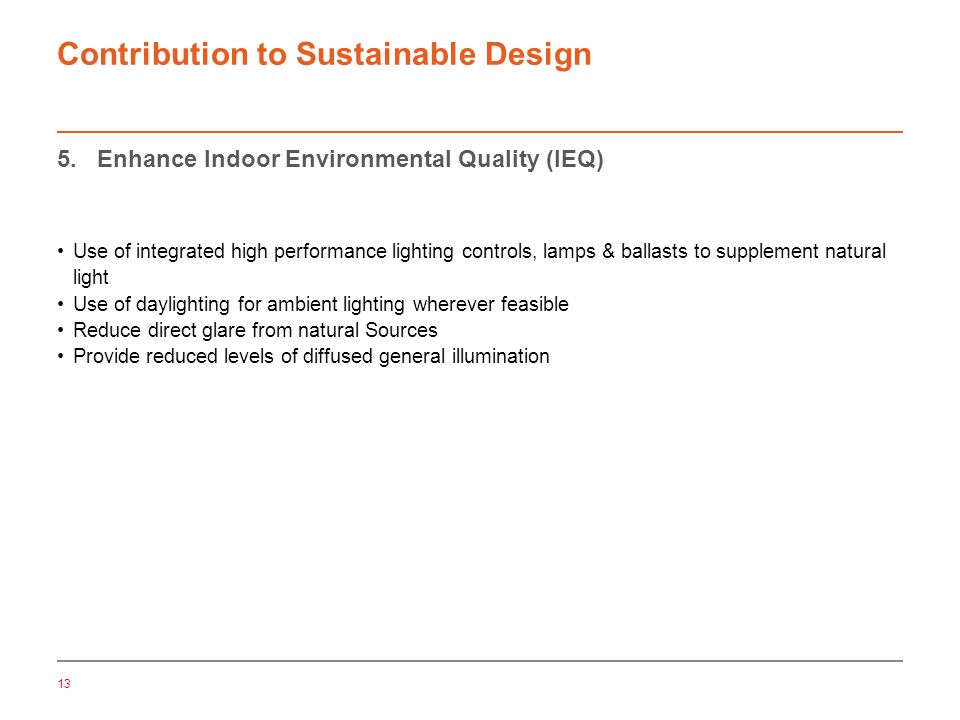 13 Contribution to Sustainable Design 5.