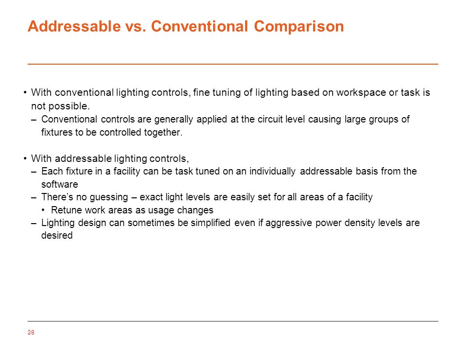 Addressable vs.