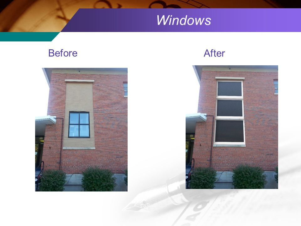 Windows Before After