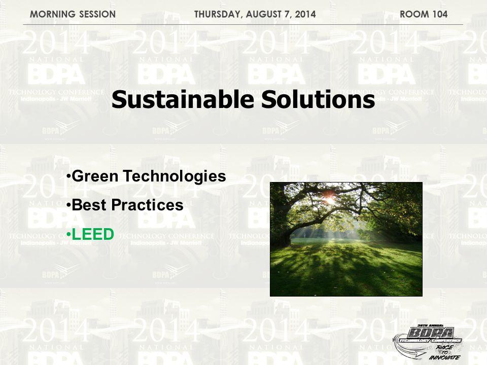 Green Technologies Best Practices LEED
