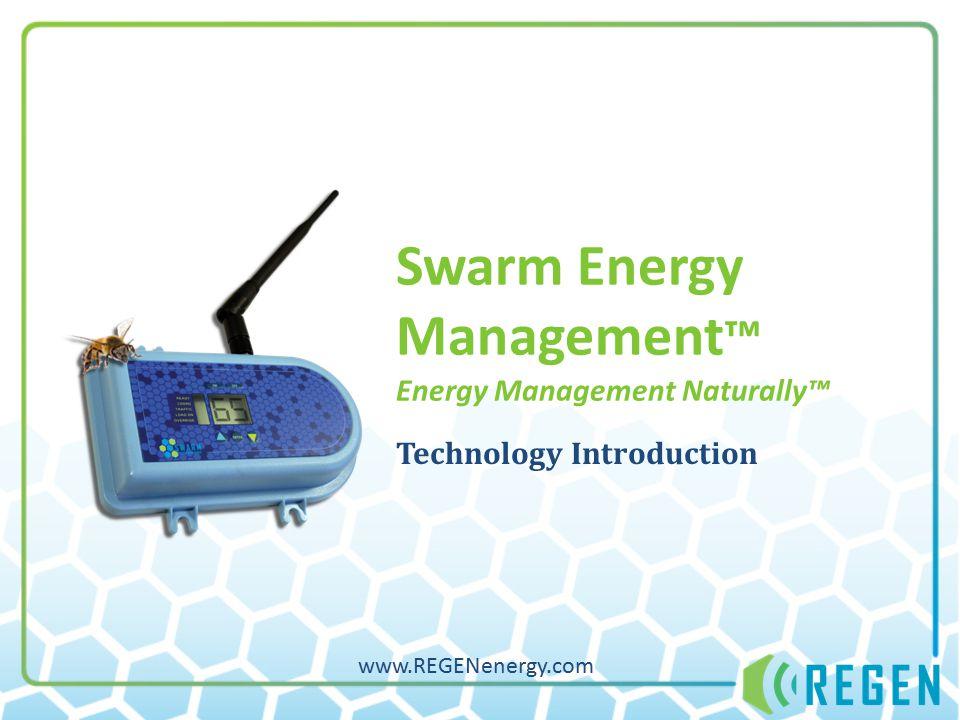 Swarm Energy Management ™ Energy Management Naturally™ Technology Introduction www.REGENenergy.com
