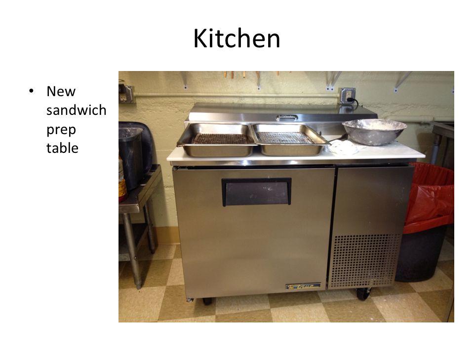 Kitchen New sandwich prep table